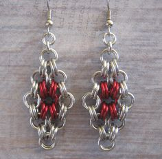 I just listed Ruby Doo Earrings Chain Maille Anodized Aluminum Jewelry on The CraftStar @TheCraftStar #uniquegifts