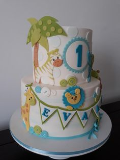 Designed this cake as per invite given…love the 1st Bd cakes, they all are so cute.