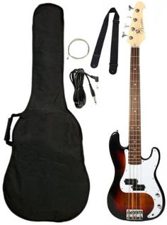 Crescent Electric Bass Guitar Sunburst Starter « StoreBreak.com – Away from the busy stores