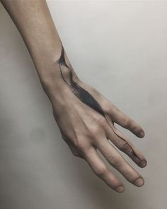 Diy Tattoo, Cover Up Tattoos, Body Art Tattoos, Rauch Tattoo, Brush Stroke Tattoo, Herren Hand Tattoos, Flower Of Life Tattoo, Modern Art Tattoos, Abstract Tattoo Designs