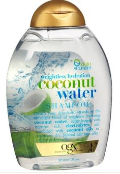 Sulfate Free, weightless & delicious: Organix Weightless Hydration Coconut Water Shampoo
