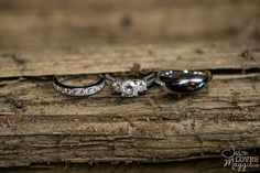 Wedding Rings, wood, and dirt. #outdoorwedding #wood #natural #weddingrings #rings #wedding #weddingphotography #engagement