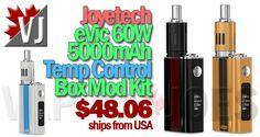 STELLAR DEAL! – eVic VT 60W 5000mAh TC Mini APV – $48.06