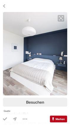 Schlafzimmer dunkelblau weiß