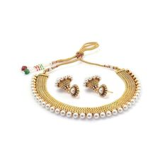 Traditional Gold Plated Pearl Set