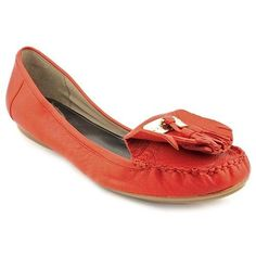 $21, Jeane Red Leather Loafers Shoes by Alfani. Sold by buy.com. Click for more info: http://lookastic.com/women/shop_items/51589/redirect