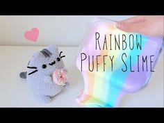 Rainbow Puffy Slime DIY Unicorn Turd - YouTube