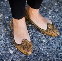 Hepburn Leopard print flats//