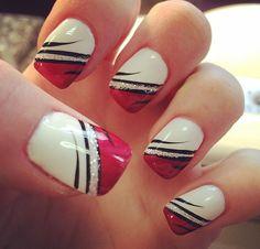 White and pink tips Fun Nails, Fairy, Nail Art, Tips, Beauty, Nail Ideas, Polish Nails, Purple Nails, Short Gel Nails
