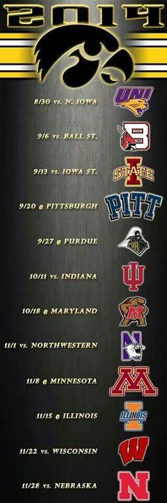 2014 Iowa Hawkeye Schedule