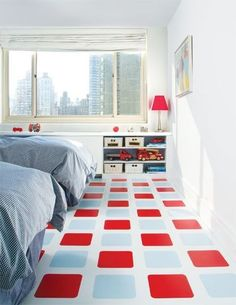 Who says vinyl tile has to be ugly? Modularity Tiles is a vinyl flooring company that takes design seriously. Their contemporary series of tiles can be Vinyl Tiles, Vinyl Flooring, Flooring Ideas, Tile Flooring, Floor Design, Tile Design, Ideas Habitaciones, Painted Floors, Painted Wood