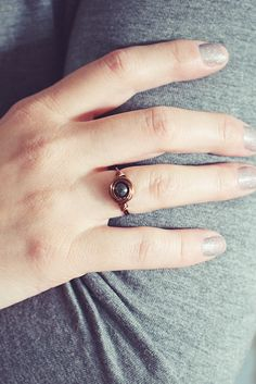 Hematite Ring   Copper Wire Ring   Healing Gemstone Ring   Boho Stone Ring   Gemstone Jewelry Wire Rings, Boho Rings, Aries And Aquarius, Be Your Own Kind Of Beautiful, Small Rings, Handmade Rings, Copper Wire, Plexus Products, Ring Designs