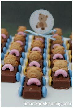 Tiny Teddy Bear Cars ~ great for baby showers or toddlers' birthday parties