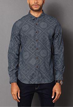 chambray prints | Bandana Print Chambray Shirt