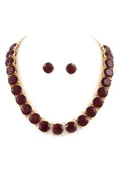 Billie Necklace Set in Ruby