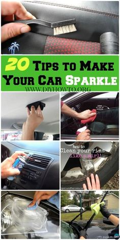 20 Deep Tips Tricks to Make Your Car Sparkle via Car Deep Cleaning Tips Tricks to Make Your Car Sparkle: From Exterior Washing to Interior Car Detailing (dusting, air odor, homemade recipe. Car Cleaning Hacks, Deep Cleaning Tips, Car Hacks, Toilet Cleaning, House Cleaning Tips, Cleaning Solutions, Spring Cleaning, Car Interior Cleaning, Diy Interior Car Cleaner