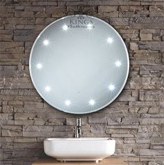 Mirror Design Ideas, Decorative Crafted Round Bathroom Mirror With Lights Manufactured Functional Mixtures Precious Can Serve Polished Copper ~ perfect 10 designs of round bathroom mirror with lights