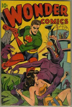 Comic Book Cover For Wonder Comics #9