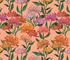 Kess InHouse Noonday Design Rose Garden Pink Green Digital 23 x 23 Square Floor Pillow