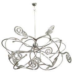 Large Steel and Murano Glass Chandelier, by Maroeska Metz, 2012 1