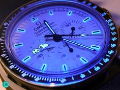 The lume on the Snoopy Speedmaster. This one is done very nicely, in our opinion.