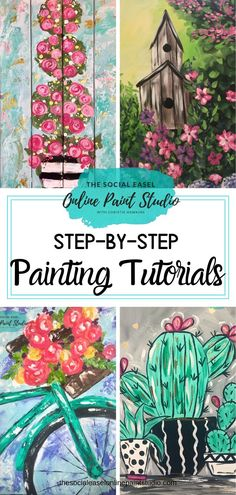 Acrylic Painting Tips and Tutorials - Have you always wanted to learn how to paint but didn't know where to start? Christie Hawkins' e - Canvas Painting Tutorials, Easy Canvas Painting, Simple Acrylic Paintings, Acrylic Painting Techniques, Diy Canvas Art, Diy Painting, How To Paint Canvas, Art Paintings, Acrylic Tips