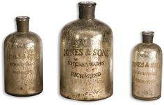 """0-002124>13"""""""" Kaho Jars Antique Silver"""