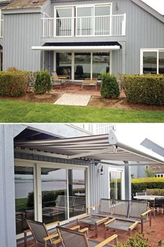 This Nuimage Awnings Pro Series 7700 Retractable Patio Awning Is