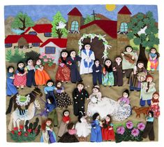 Folk Embroidery, Paint Stain, Folk Art, Pottery, Textiles, Kids Rugs, Quilts, Art Prints, Chile