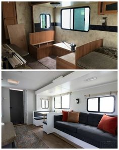 Dream about a fancy R. but don't want to spend the money? This family took a dated R. and made it over into a dream glamper! Tiny House, Diy Camper, Camper Life, Rv Life, Cocina Diy, Camper Trailers, Travel Trailers, Rv Campers, Camper Renovation