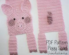 Crochet Pig Scarf Pattern by Crochetions