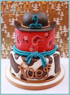 Cowboy Cake - by Samantha Douglass @ CakesDecor.com - cake decorating website