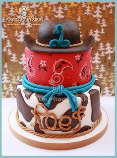 Cowboy Cake - by Samantha Douglass @ CakesDecor.com - cake decorating website