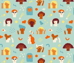We are women fabric by tasiania on Spoonflower - custom fabric