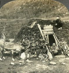 Norway ~ TROMSOE Sami Saami Lapp Home Family Dog Reindeer Velvet v15790 150g fx in Collectibles, Photographic Images, Vintage & Antique (Pre-1940), Stereoviews | eBay