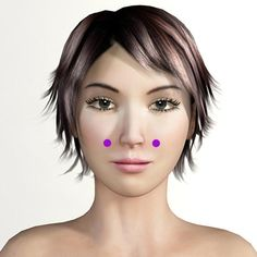 "Acupressure / Acupuncture Point ""Facial Beauty"" (St3) is used in Facial Rejuvenation Acupressure. It also helps relieve stuffy nose, nasal congestion, sinus problems, tooth pain, eye ache, eye irritation, swelling around the eyes and general facial congestion."