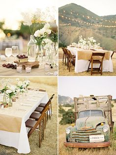 wine country wedding /// #wedding #decorations #country