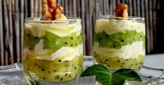 kiwi, queso, vasitos de kiwi y queso, vasitos dulces, Julia y sus recetas, postres en vasito, postres, fruta