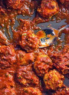 Harissa Chicken Zucchini Meatballs