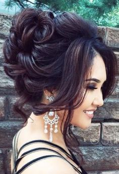 Stunning loose curls updo wedding hairstyle; Featured Hairstyle: ElStyle