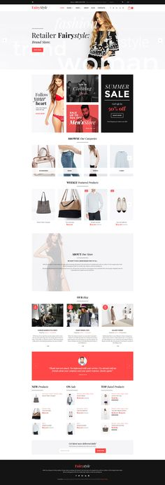 WooCommerce Template , Fairy Style - Fashion Store