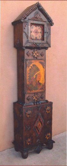 Tramp Art Case Clock
