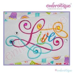 Live Calligraphy Script Embroidery Design, Small - 5 Sizes!   Words and Phrases   Machine Embroidery Designs   SWAKembroidery.com Embroitique