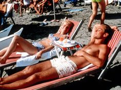 On the beach in Italy.The Talented Mr Ripley: starring Gwyneth Paltrow and Jude Law