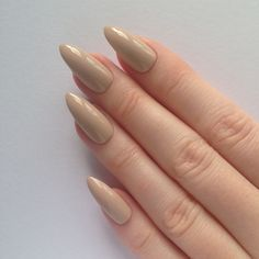 Nude Stiletto nails, Nail designs, Nail art, Nails, Stiletto nails,... ($17) ❤ liked on Polyvore featuring beauty products, nail care, nail treatments, nails e beauty