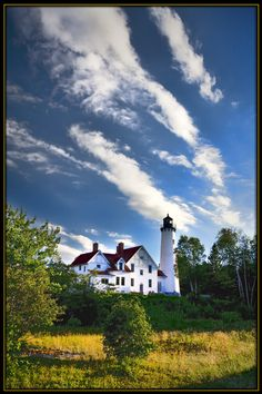 Point Iroquois Lighthouse on Lake Superior, Upper Peninsula, Michigan