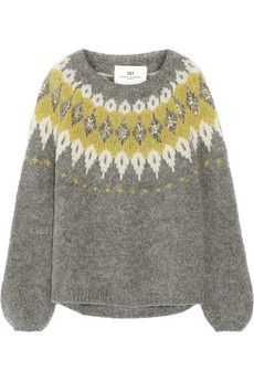 DAY Birger et Mikkelsen Embellished mohair-blend sweater | NET-A-PORTER