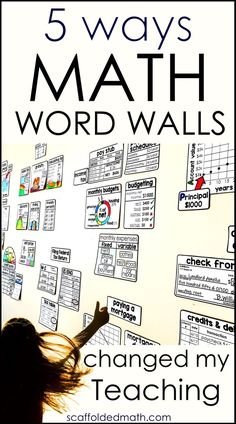 5 Ways Math Word Walls Have Changed My Teaching and my Students' Learning! Links to math vocabulary walls for elementary, middle and high school resources 5 Ways Math Word Walls Have Changed My Teaching Math Vocabulary Wall, Maths Guidés, Teaching Math, Teaching Reading, Math Games, Kindergarten Vocabulary, Vocabulary Journal, Vocabulary List, Spanish Vocabulary