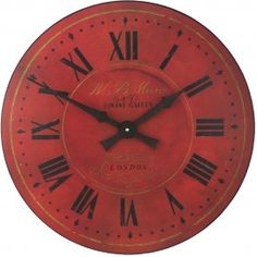 Red London Wall Clock 36cm or 49cm