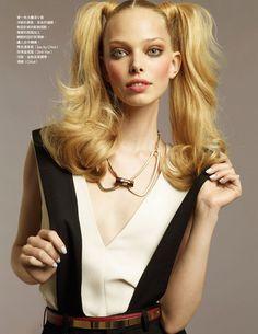 """Gossip Girl"" | Model: Tanya Dziahileva, Photographer: Naomi Yang, Vogue Taiwan, September 2011"